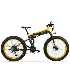 Ebike T500 Electric Mountain Bike Bicycle Foldable 48V 10A Shimano Fat Tyre 26""