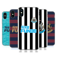 NEWCASTLE UNITED FC NUFC 2018/19 KIT CREST CASE IN GEL PER APPLE iPHONE TELEFONI