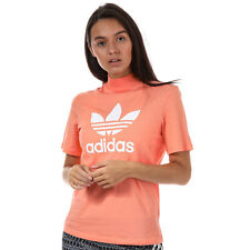 Womens adidas Originals Pharrell Williams Logo T-Shirt In Chalk Coral