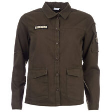 Womens Jacqueline De Yong Force Patch Shirt In Olive