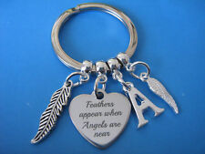 Bereavement Keyring Feathers Appear In Memory of Condolence Sympathy Keychain