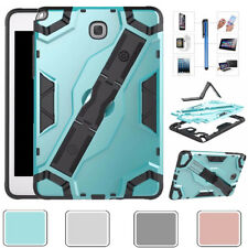 "For Samsung Galaxy Tab A 7"" 8"" 10.1"" Heavy Duty Hand Strap Kickstand Case Cover"