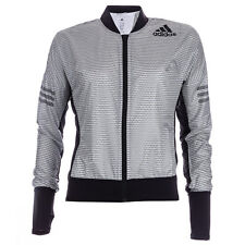 Womens adidas Adizero Climaproof Running Jacket In White / Black