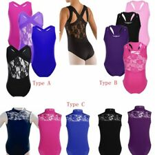Girls Kids Ballet Dress Gymnastics Dance Leotard Tutu Skirt Dancewear Costume
