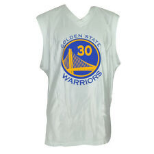 NBA Golden State Warriors Stephen Curry 30 Blanco Camiseta Hwc Hombres Adulto L