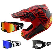 Troy Lee Design SE4 Factory MIPS Crosshelm Motocross rot TWO-X Rocket MX Brille