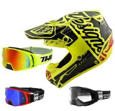 Troy Lee Design SE4 Factory Mips Casco da Cross Motocross Giallo Two-X Rocket