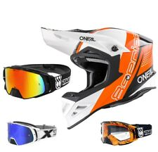 Oneal 8Series Nano Casco da Cross Motocross Mx Arancio Two-X Rocket Occhiali