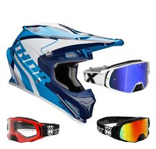 Thor Sector Ricochet Casco da Cross Motocross Mx Blu Two-X Rocket Occhiali