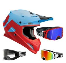 Thor Sector Livello Casco da Cross Motocross Mx Blu Two-X Rocket Occhiali