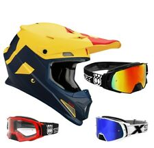 Thor Sector Livello Casco da Cross Motocross Mx Casco Blu e Giallo Two-X Rocket