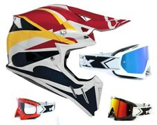 Acerbis Casco Cross Perfil 2.0 Rojo Amarillo Motocross Enduro Mx con Two-X Gafas