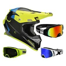 Thor Sector Shear Casco da Cross Motocross Neon Nero Two-X Rocket Occhiali