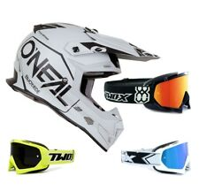 Oneal 5Series Casque Cross Hexx Noir/Blanc Two-X Race Mx Lunettes de Moto-Cross