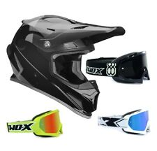 Thor Sector Shear Casco da Cross Motocross Nero Grigio Two-X Race Occhiali
