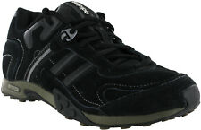 Adidas Mens Black Suede Casual Lace Up Hiking Walking Fitness Trainers Shoes UK8