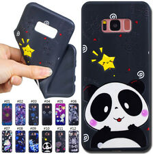 For Samsung Phone Cute Varnish Embossed Rubber TPU Soft Case Skin Silicone Cover
