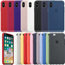 Genuine Official Hard Silicone Case Protect Cover for Apple iPhone 6S 7 8 Plus