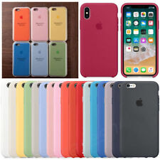 Genuine Case Hard Silicone Phone Cover for Apple iPhone XS XR Max 8 7 6S 6 Plus