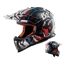 LS2 MX437 Casco Cross Rápido Beast Motocross Enduro Mx Casco Negro Blanco