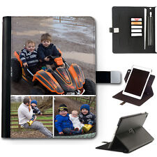 PERSONALISED LEATHER IPAD CASE CUSTOM PHOTO 360 SWIVEL COVER FOR APPLE I PAD