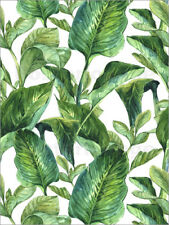 Póster, lienzo o cuadro en metacrilato Tropical Leaves in Watercolor