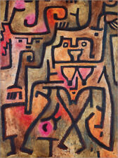 Poster, stampa su tela o vetro acrilico Forest witches - Paul Klee