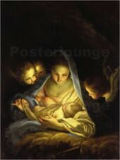 Poster, stampa su tela o vetro acrilico Mary with the Christ child bent ov...