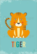 Póster, lienzo o cuadro en metacrilato Baby Tiger for the n... - Petit Griffin