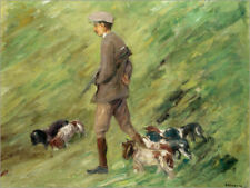 Poster, stampa su tela o vetro acrilico Hunter in the Dunes - Max Liebermann