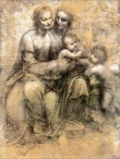 Poster, stampa su tela o vetro acrilico The Virgin and Child ... - L. da Vinci
