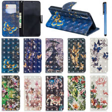 3D Patterns PU Leather Stand Wallet Case Cover For iPhone 6 7 8 Plus X XS Max XR