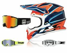 Acerbis Casco Cross Impact Naranja Motocross Mx Enduro con Two-X Bomba Gafas