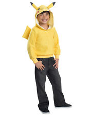 Pokemon Pikachu Pull Over Hoodie And Tail Kids Costume