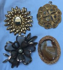 Choice of 3 large costume vintage brooches + 1 pendant 1 Sphinx C1950s to 1970s