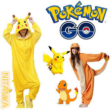 Adult Kids Pokemon Charmander Pikachu Animal Pajamas Onesie1 Costume Pyjamas
