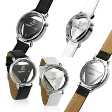 Fashion Womens Watch Mens Wrist Watch Stainless Steel Leather Band Quartz Analog