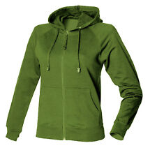 Hoodie Womens Hooded Jacket Full Zip Sweatshirt New Skinnifit