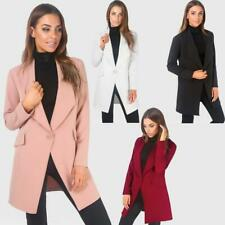 Women Ladies Tailored Oversized Fashion One Button Long Loose Blazer Coat Jacket