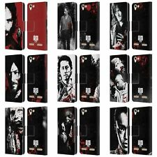 OFFICIAL AMC THE WALKING DEAD GORE LEATHER BOOK WALLET CASE FOR LENOVO PHONES