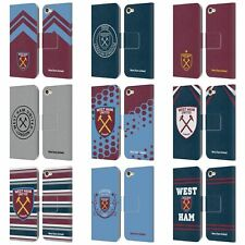 WEST HAM UNITED FC 2018/19 CREST LEATHER BOOK CASE FOR APPLE iPOD TOUCH MP3