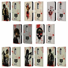 AMC THE WALKING DEAD SILHOUETTES LEATHER BOOK WALLET CASE FOR MOTOROLA PHONES 2