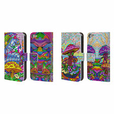 OFFICIAL HOWIE GREEN MUSHROOMS LEATHER BOOK CASE FOR APPLE iPOD TOUCH MP3