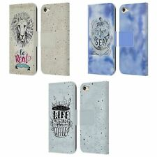 KRISTINA KVILIS TYPOGRAPHY LEATHER BOOK WALLET CASE FOR APPLE iPOD TOUCH MP3