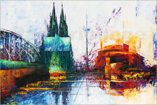 Póster, lienzo o cuadro en metacrilato Cologne Cathedral Skyline - R. Berghaus