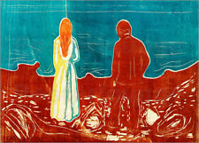 Póster, lienzo o cuadro en metacrilato Two People (The Lonely Ones) - E. Munch