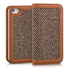 FUNDA-CARTERA TIPO DONNA PARA APPLE IPHONE SE 5 5S FUNDA TIPO FLIP TWEED