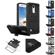 FOR LG ARISTO 2 REBEL 3 4 TANK ARMOR CASE IMPACT SHOCKPROOF STAND COVER+STYLUS