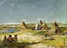 Poster / Toile / Tableau verre acrylique Camp of the Indians i... - F. Buchser