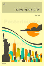 Póster, lienzo o cuadro en metacrilato NEW YORK CITY TRAVEL POSTER - J. Blue